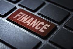 Finance keyword on keyboard. Finance keyword concept on computer keyboard technology background macro shot stock illustration