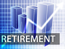 finance la retraite Image libre de droits