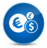 Finance le bouton rond bleu élégant d'icône Image libre de droits