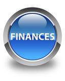 Finance le bouton rond bleu brillant Image stock