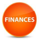 Finance le bouton rond orange élégant Photographie stock