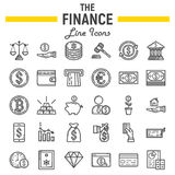Finance line icon set, business symbols collection Stock Photography