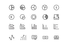Finance Line Icons 11. Here is a useful and trendy Finance icon pack. Hope you can find a great use for them in finance, money, banking, and statistics visuals Stock Images