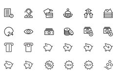 Finance Line Icons 10. Here is a useful and trendy Finance icon pack. Hope you can find a great use for them in finance, money, banking, and statistics visuals Royalty Free Stock Image
