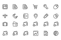Finance Line Icons 5 Royalty Free Stock Photo