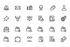 Finance Line Icons 8 Royalty Free Stock Images
