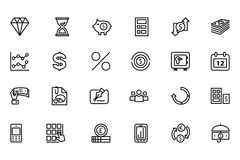 Finance Line Icons 7 Stock Photos
