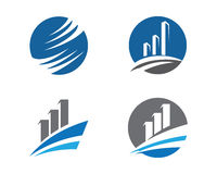 Finance logo. Business professional logo template with bars Royalty Free Stock Photography