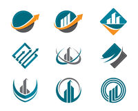 Finance logo. Success and other company Royalty Free Stock Image