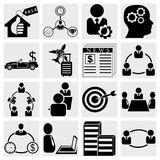 Business and finance icons Royalty Free Stock Photography