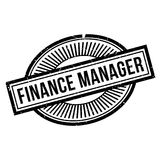 Finance Manager rubber stamp. Grunge design with dust scratches. Effects can be easily removed for a clean, crisp look. Color is easily changed Stock Photos