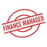 Finance Manager rubber stamp. Grunge design with dust scratches. Effects can be easily removed for a clean, crisp look. Color is easily changed Royalty Free Stock Images
