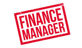Finance Manager rubber stamp Royalty Free Stock Images