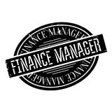 Finance Manager rubber stamp Stock Photo