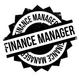 Finance Manager rubber stamp. Grunge design with dust scratches. Effects can be easily removed for a clean, crisp look. Color is easily changed Stock Photo