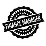 Finance Manager rubber stamp. Grunge design with dust scratches. Effects can be easily removed for a clean, crisp look. Color is easily changed Royalty Free Stock Image