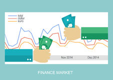 Finance market flat illustration. Eps10 Stock Photo