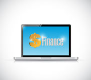 Finance message on a laptop illustration design Royalty Free Stock Images
