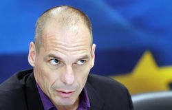 Finance Minister Yanis Varoufakis Stock Image