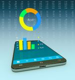 Finance mobile app Stock Image