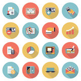 Finance modern flat color icons. Royalty Free Stock Photography