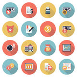 Finance modern flat color icons. Royalty Free Stock Image