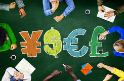 Finance Money Currency Learning Studying Education Brainstorming Royalty Free Stock Photo