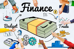 Finance Money Debt Expenditure Trade Concept Stock Image