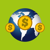 Finance money economy dollar business. Isolated,  illustration Royalty Free Stock Photography