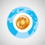 Finance money economy dollar business. Isolated,  illustration Royalty Free Stock Images