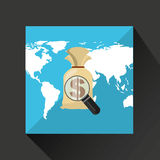 Finance money economy dollar business. Isolated,  illustration Stock Photos