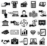 Finance money icon set,. Finance money icon set exchange bank gold business man safe online banking card commerce dollar check credit, vector symbol Royalty Free Stock Image