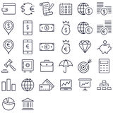 Finance and money icon set. Finance and money icons in black Stock Images