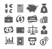 Finance and money icon set. Finance and money icons on white background Royalty Free Stock Images