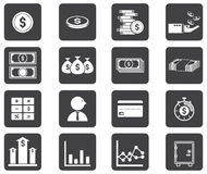 Finance and money icon set Royalty Free Stock Photography