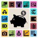 Finance and money icon set royalty free illustration