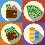 Finance and money icon set. Royalty Free Stock Photos