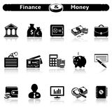Finance and Money Icons Stock Photography
