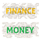 Finance Money Line Art Concept Royalty Free Stock Photography