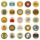 Finance and money round icon vector set Stock Photos