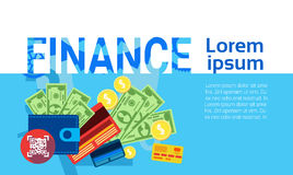 Finance Money Savings Business Banking Banner Royalty Free Stock Images