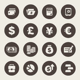 Finance and money theme icons set.  Stock Photo