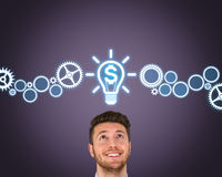 Finance New Bright Idea. Working Conceptual Business Concept royalty free stock image