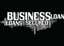 Finance New Project Through Secured Business Loans Text Background Word Cloud Concept royalty free illustration