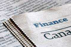 Finance news. Newspaper section about Finance news Royalty Free Stock Image