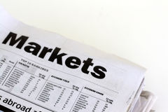Finance newspapers Stock Photos