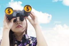Finance observation Royalty Free Stock Photo