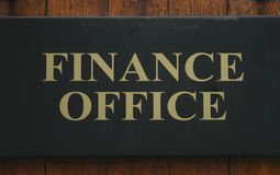Finance Office Stock Image