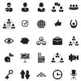 Finance, Office & Business Icons. Set of 25 black icons on with finance, office and business icons Royalty Free Stock Images