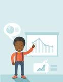 Finance officer showing a finance chart Stock Photos